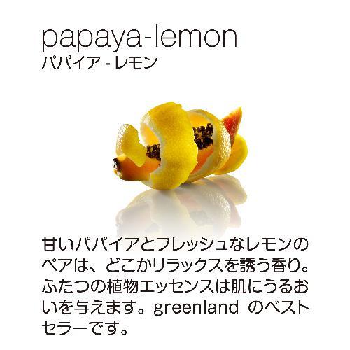 greenland パパイヤ レモン